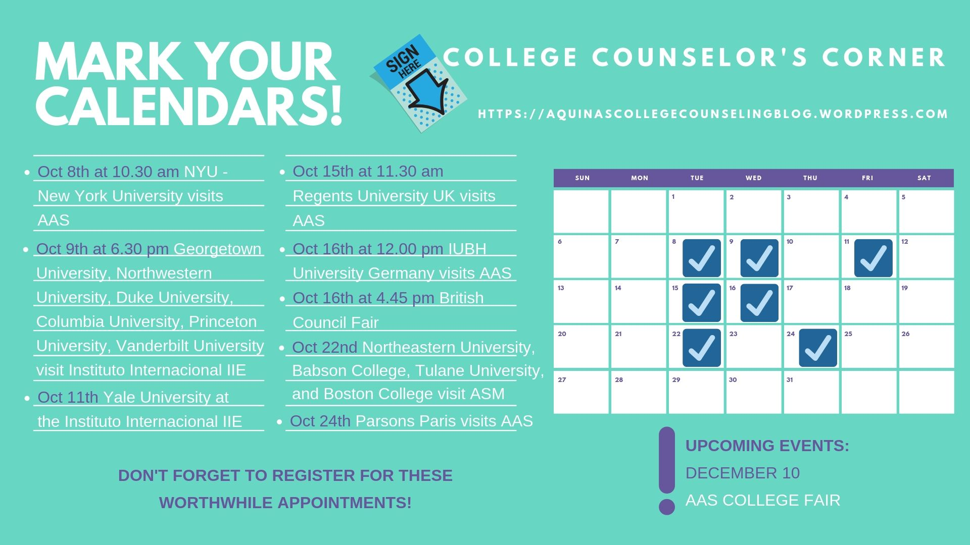 COLLEGE COUNSELOR'S CORNER